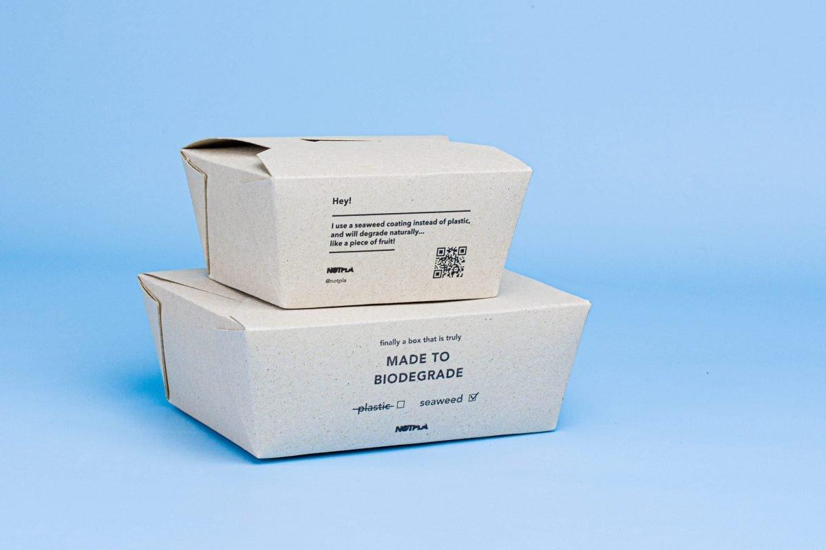 Notpla Takeaway Boxes - Notpla